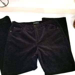 Ralph Lauren black corduroy size 16 pants high ris